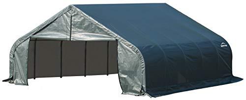 Storage Green Shelter - ShelterLogic 80002 Green 18'x24'x9' Peak Style Shelter