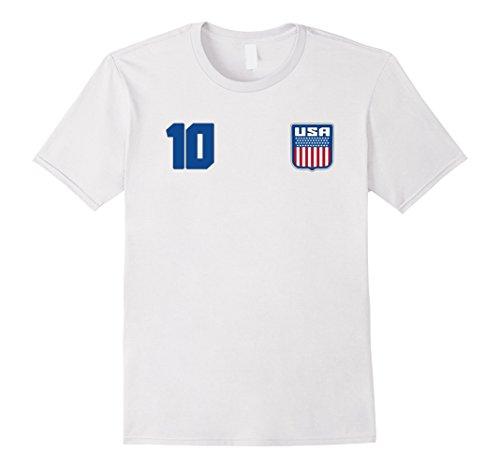 Mens Usa T Shirt America Tee Usa Retro Us Pride Medium White