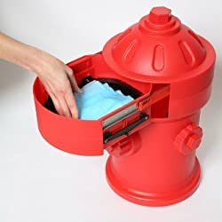 Puppy Pad Wizard Puppy Litter/Training Trash Can, Red