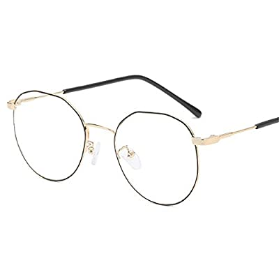 FeliciaJuan Adult Glasses Metal Polygon Lens The Restoring Ancient Ways General Computer Goggles Men and Women