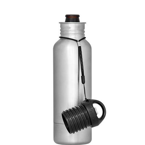 BottleKeeper - The Standard 2.0 - The Original Stainless Steel Bottle Holder and Insulator to Keep Your Beer Colder (Stainless)