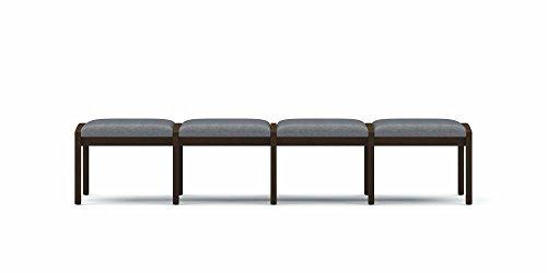 Lesro Lenox 4 Seat Bench, Cherry Finish, Core Burst Fabric - Lesro Four Seat