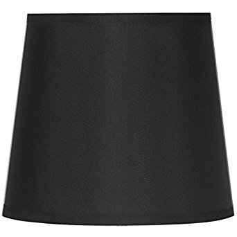 Contemporary and Traditional, Hard-Back Drum Lamp Shade, Black (1)