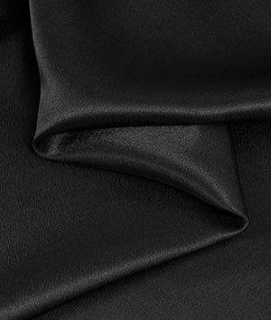 Black Crepe Back Satin Fabric - by the Yard
