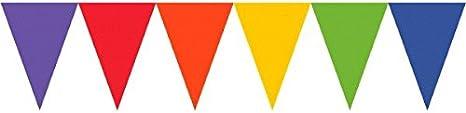 amscan Guirnalda de banderines de Papel de Arco Iris: Amazon.es: Hogar