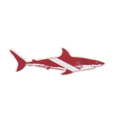 Innovative Shark Dive Flag Bumper Sticker 6 Inch Dive Flag (Dive Flag Shark Sticker)