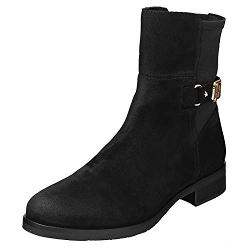 Tommy Hilfiger Th Buckle Bootie Stretch Womens Ankle Boots Black - 37 EU