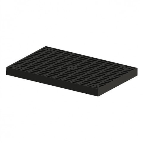 24 Inch x 48 Inch Heavy Duty Fountain Basin Grate - For Pond and Water Garden Features and More - Hides Reservoirs - Holds Bubblers, Rocks, Other Decorations - Will Not Rust - Black - Can Be Cut