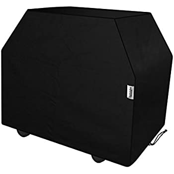 HOMMAYS 60-Inch Waterproof Barbecue Grill Cover - Black