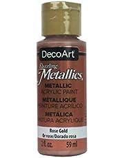 Deco ArtDazzling, Pintura acrílica metálica, 56 g, Oro Rosa