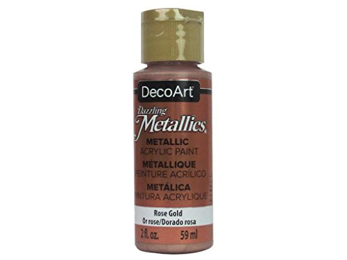- DecoArt 2oz RosGold Dazzling Metallic, 2 oz