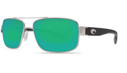 Costa Del Mar Sunglasses - Tower- Glass / Frame: Palladium Lens: Polarized Green Mirror Wave 580 - Sunglasses Tower Costa
