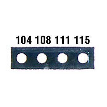 Digi-Sense Irreversible 4-Point Micro Horizontal Temperature Label, 320-351F; 10/Pk