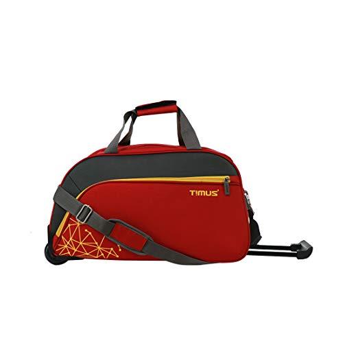 Timus Dynamite 55 cm 2 Wheel Trolley Bag for Travel Travel Cabin Duffel Bag  Red