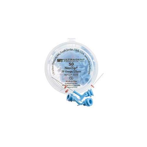Ultradent 1376 NaviTip Mixing Tip, 0.98'' Length, 29 Gauge, Blue (Pack of 50)