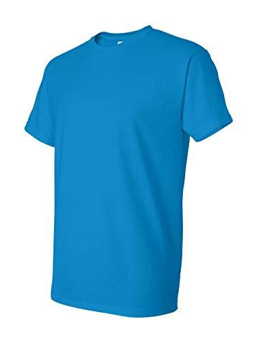 Gildan Adult 5.6 oz 50/50 Short Sleeve T-Shirt in Sapphire - X-Large (Gildan 50 50 Dryblend T Shirt 8000)