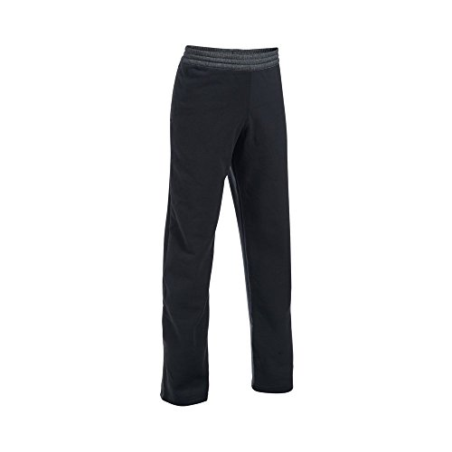 Under Armour Boys' ColdGear Infrared Fleece Pants, Black/Graphite, Youth X-Large