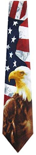 FLAG-311 - Mens Novelty USA Flag Necktie - Red White Blue