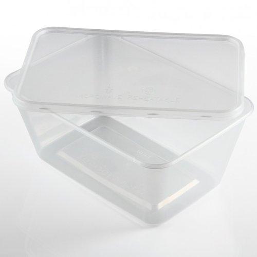 Recipiente plastico con tapa para usar en el microondas, 100 ...
