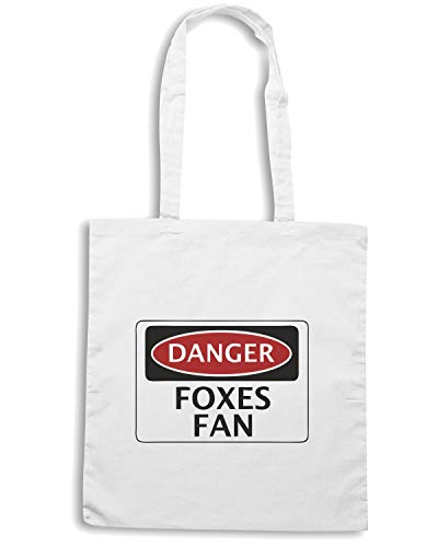 Speed Shirt Borsa Shopper Bianca WC0296 DANGER LEICESTER CITY FOXES FAN FOOTBALL