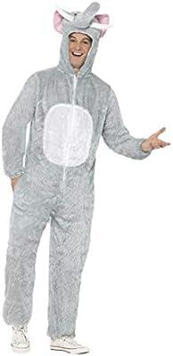 Smiffys-31686M Disfraz de Elefante, Incluye Enterizo con Capucha ...