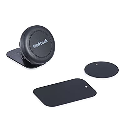 Car Mount, Nekteck Universal Stick on Dashboard Magnetic Car Mount Holder for iPhone X/8/7 6S/ 6 6 Plus, SE, Galaxy S9/S8 S6/S7 Note 9 8 5, LG G7 G6, Pixel 3/2 XL Nexus 6P 5X More