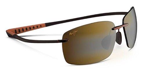 Maui Jim Kumu Sunglasses (724) Bronze Shiny/Bronze Titanium - Polarized - - Jim Maui Kumu