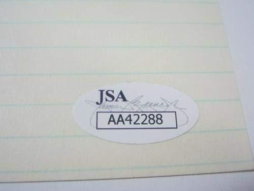 "GEORGE""KIDDO"" DAVIS 1926 New York Yankees Signed Autographed Index Card CoA JSA Certified MLB Cut Signatures"