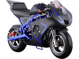 MotoTec Cali 40cc Gas Pocket Bike Blue