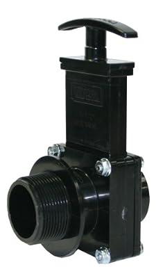 "Valterra 7106 ABS Gate Valve, Black, 1-1/2"" MPT x Spig by Valterra Products"