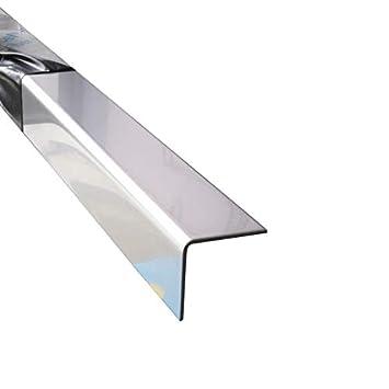40x20x1,0 mm Kantenschutz Edelstahl Blank Eckschutz 1,5 meter V2A blank L-Winkel 150 cm lang