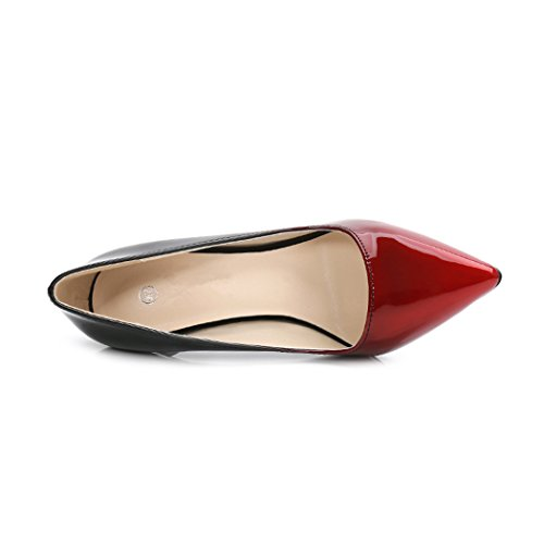 Gradient Women's Pointed High black Wedding Red Stiletto Pumps Fashion Heeled SAMSAY Heels Toe Shoes Color Slender wYnzHz1