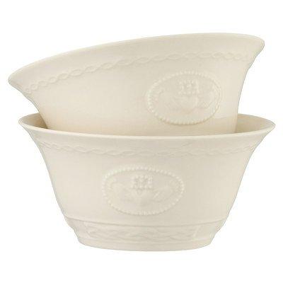 (Belleek, 4216, Claddagh Bowls, White, 20fl ocZ, Set of 2)