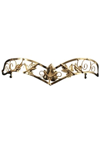elope Antiqued Gold Leaf Circlet, Gold, One