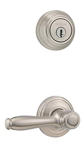 Double Ashfield Handleset Cylinder (Kwikset 967ADL-15S Ashfield Interior Double Cylinder Handleset Trim Smart Key Satin Nickel Finish)