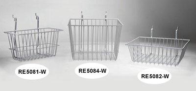 Price comparison product image Rack'Em 5084-W White Wire Storage Basket 12 x 9.5 x 13 Inch