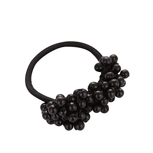 NANTE Top Pearl Beads Hairpin Retro Elastic Rubber