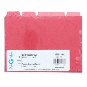Pagna Leitregister A6 A-Z Pressspan rot