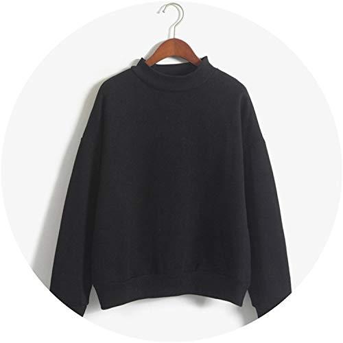 (Coat Fleece Thick Turtleneck Pullover Fe 10 Cr Tracksuit Tops,XM31055black,L)