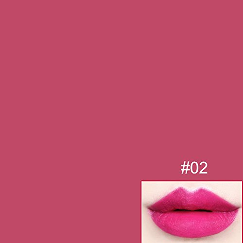 Hername new fashion hot sale long-lasting non-marking retro matte lipstick waterproof sexy makeup lip stick (2、rose red)