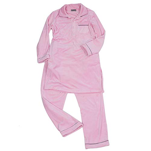 衣類 Pantalón El Interior Camisón Cara Manga Traje Mujer Para Suave Pijama Pijamas Informal Doble Ropa Otoño De Hogar E Súper Larga Invierno rcr6wqR8Sx