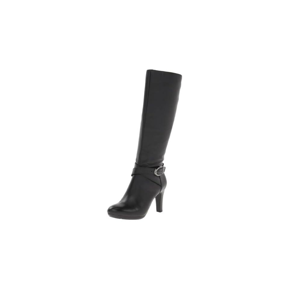 AK Anne Klein Womens Cadencia Leather Knee High Boot