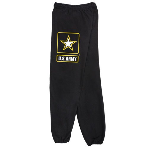Fox Outdoor Products Army Star Sweatpants, Black, Large