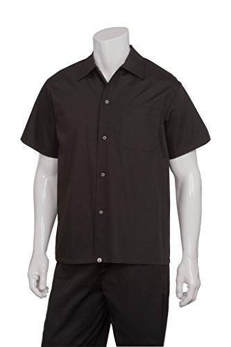 Chef Works Mens Utility Cook Shirt, Black, (Black Utility Shirt)