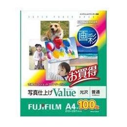 【まとめ 4セット】 富士フイルム 写真仕上げValue 光沢 100枚 A4サイズ WPA4100VA B07KNSYJ45