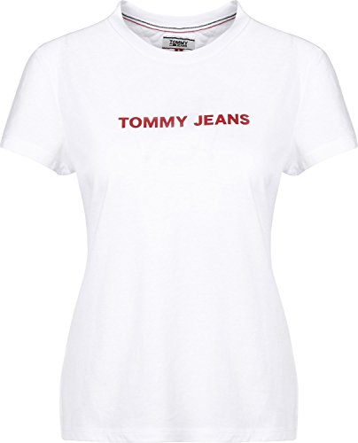 Blanco Camiseta Xs Talla Tommy Jeans Color Mujer UPqTPw0