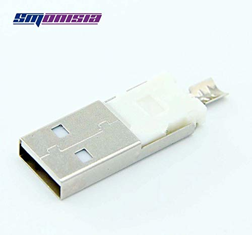 Gimax 500sets USB A Type Male Socket Jack Wire type Fold AM USB Connector Integrated Two-piece suit