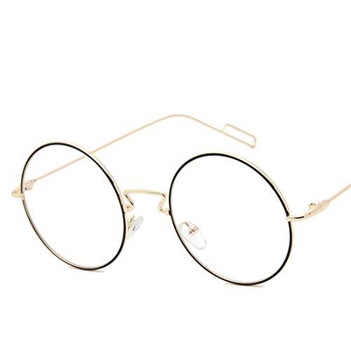 Prescription Frame Pour Les Femmes Lunettes De Retro Littéraires Xasclnis Non color Coffee Round Flat gold Black Mirror Vue qzHSn