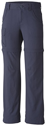 Columbia Youth Girls Silver Ridge III Convertible Sun Pants, Moisture Wicking, Nocturnal, Large