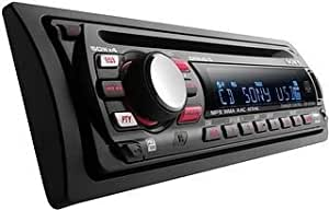 Sony CDX-GT414U sintonizador de CD/DVD para el coche - Radio para coche (DRIVE-S CD Chassis, SSIR-EXA, 24 bit, Green/Amber Changeable, Negro, 4 x 50 W)